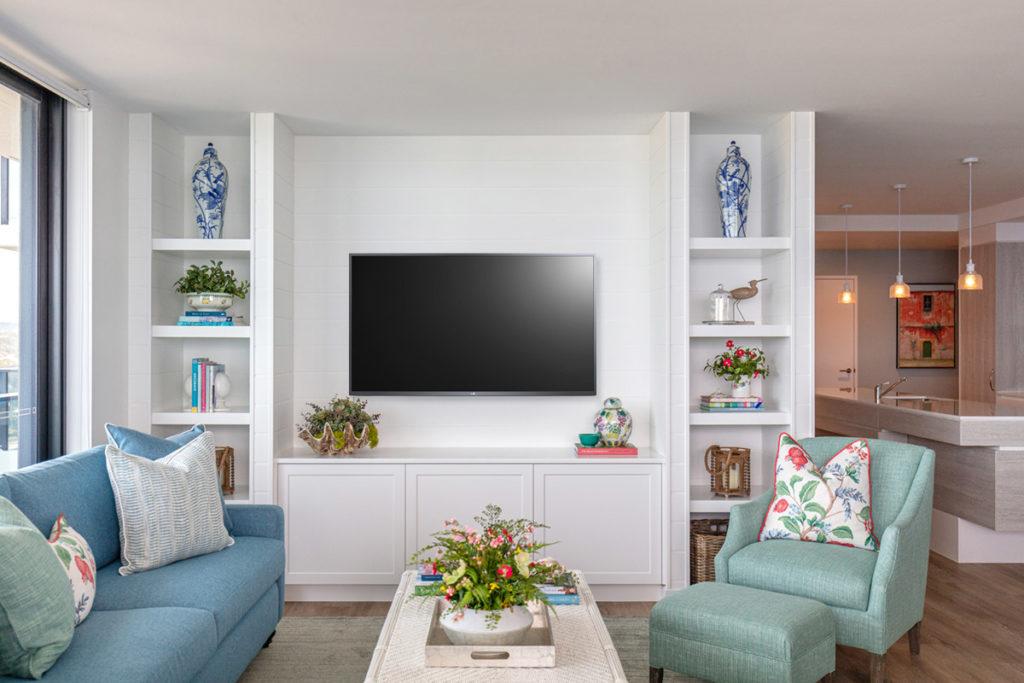 Vanessa Wood Interiors beach side apartment living room